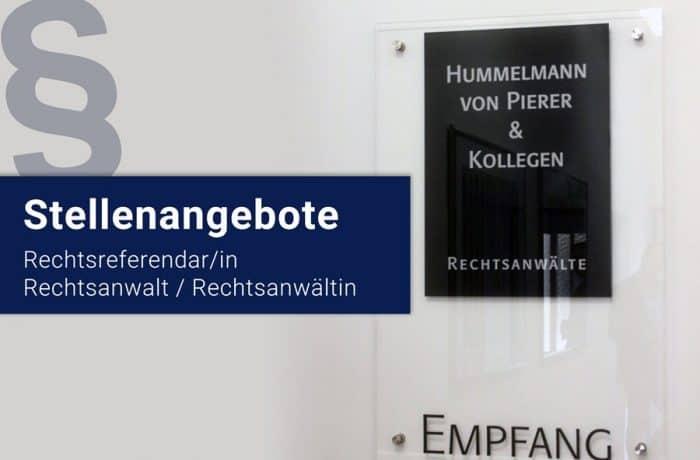 Rechtsanwalt und Rechtsreferendar in Erlangen gesucht