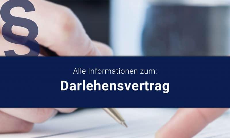 Rechtssichere Gestaltung Darlehensvertrag durch Anwalt